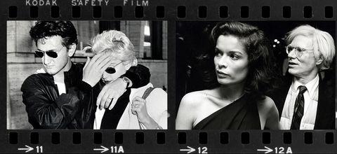 Sean Penn et Madonna 1986 (à gauche) Bianca Jagger et Andy Warhol 1978 (à droite).