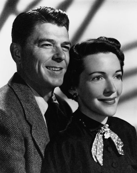 Ronald Reagan and Nancy Davis around the time of their wedding