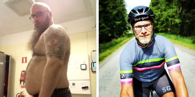 weight loss cycling ronny jansson