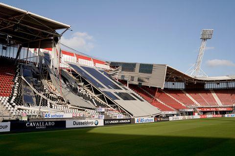 roof stadium of az alkmaar collapsed