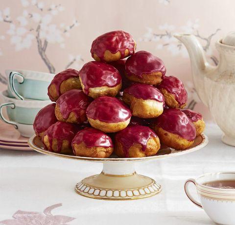 rooibos blueberry glazed donut holes