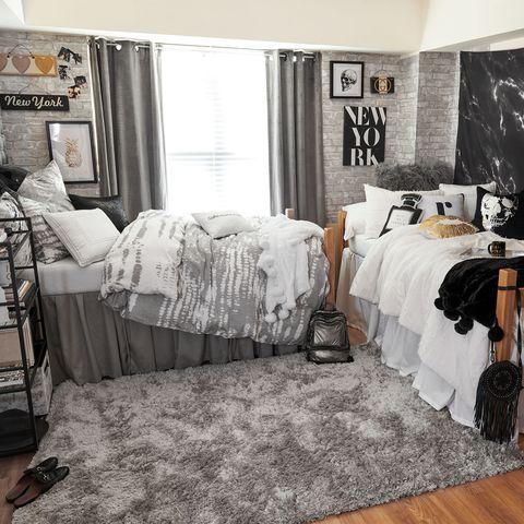 College Aesthetic Dorm Room Purple