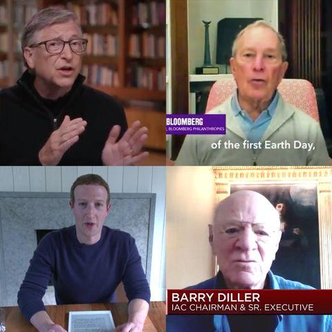 bill gates, mike bloomberg, mark zuckerberg, barry diller