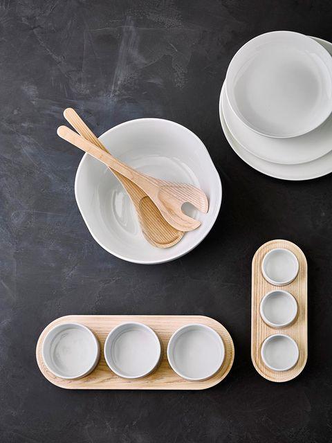 Dishware, Bowl, Spoon, Tableware, Plate, Cutlery, Kitchen utensil, Food, Wooden spoon, Chopsticks,