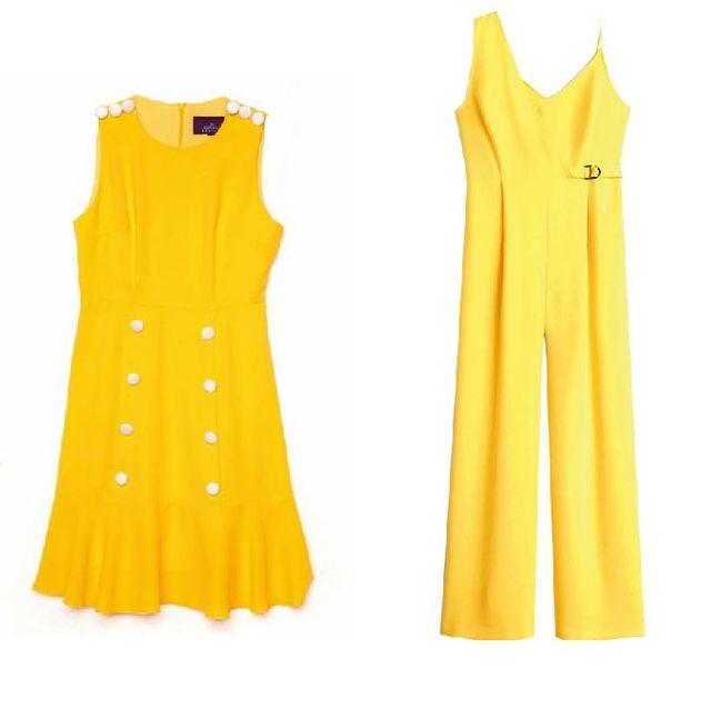 Ropa amarilla de verano