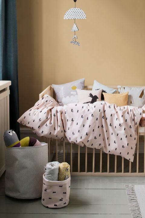 Ropa de cama con estampado de conejos