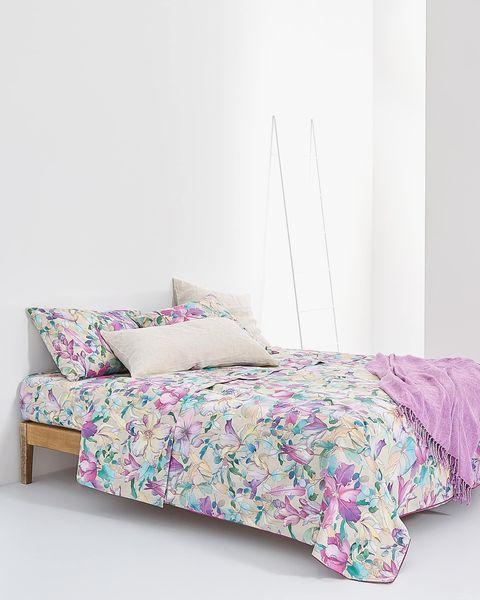 funda nórdica con estampado floral