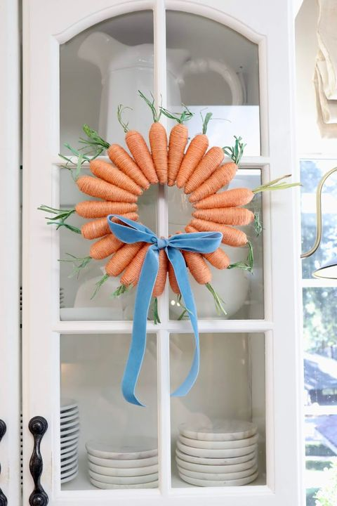 twine carrots easter wreath