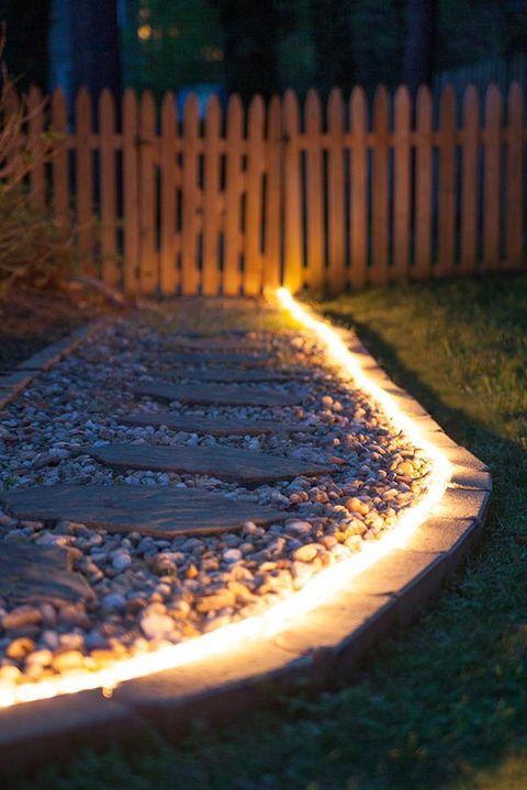 rope lights walkway