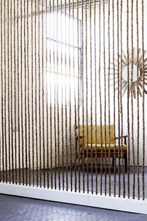 rope wall room divider