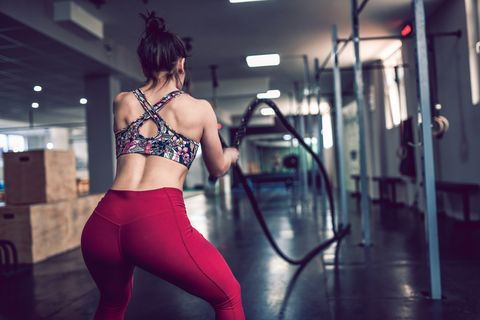 Rope Workout In Gym