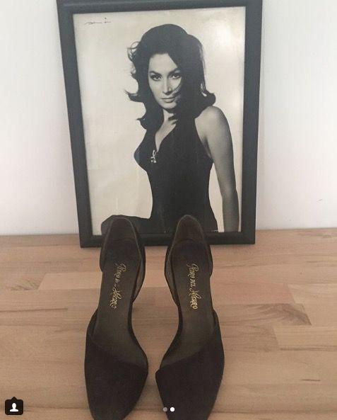 Black, Footwear, Shoe, High heels, Leg, Photography, Thigh, Human leg, Court shoe, Black hair,