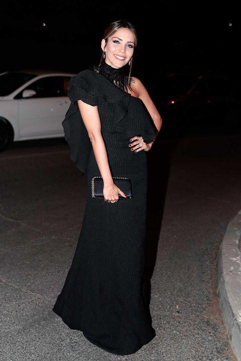 La modelo Rosanna Zanetti, tras su boda con David Bisbal, en lafiesta 30ºAniversario Vogue