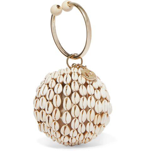 Rosantica Bolvormige tas met schelpen