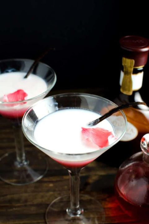 vanilla rose and white chocolate cocktail