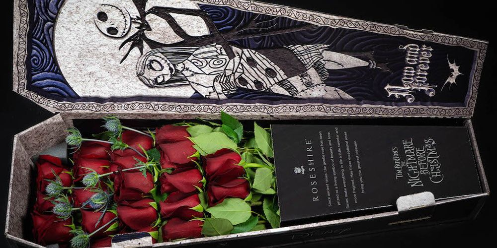 These 'Nightmare Before Christmas' Roses Come In A Coffin