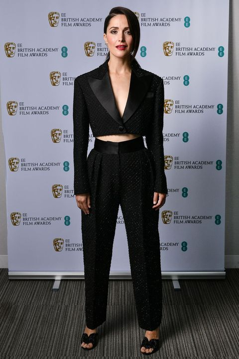exclusivemandatory credit photo by rob latourshutterstock for bafta 11849267hrose byrneexclusive   74th british academy film awards, arrivals, los angeles, usa   11 apr 2021
