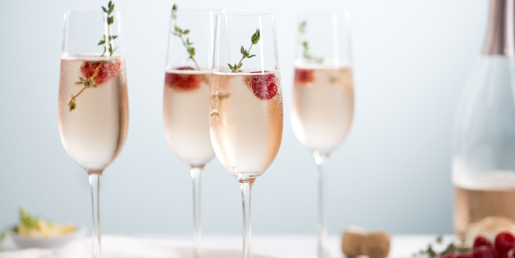 Rose Champagne Cocktails