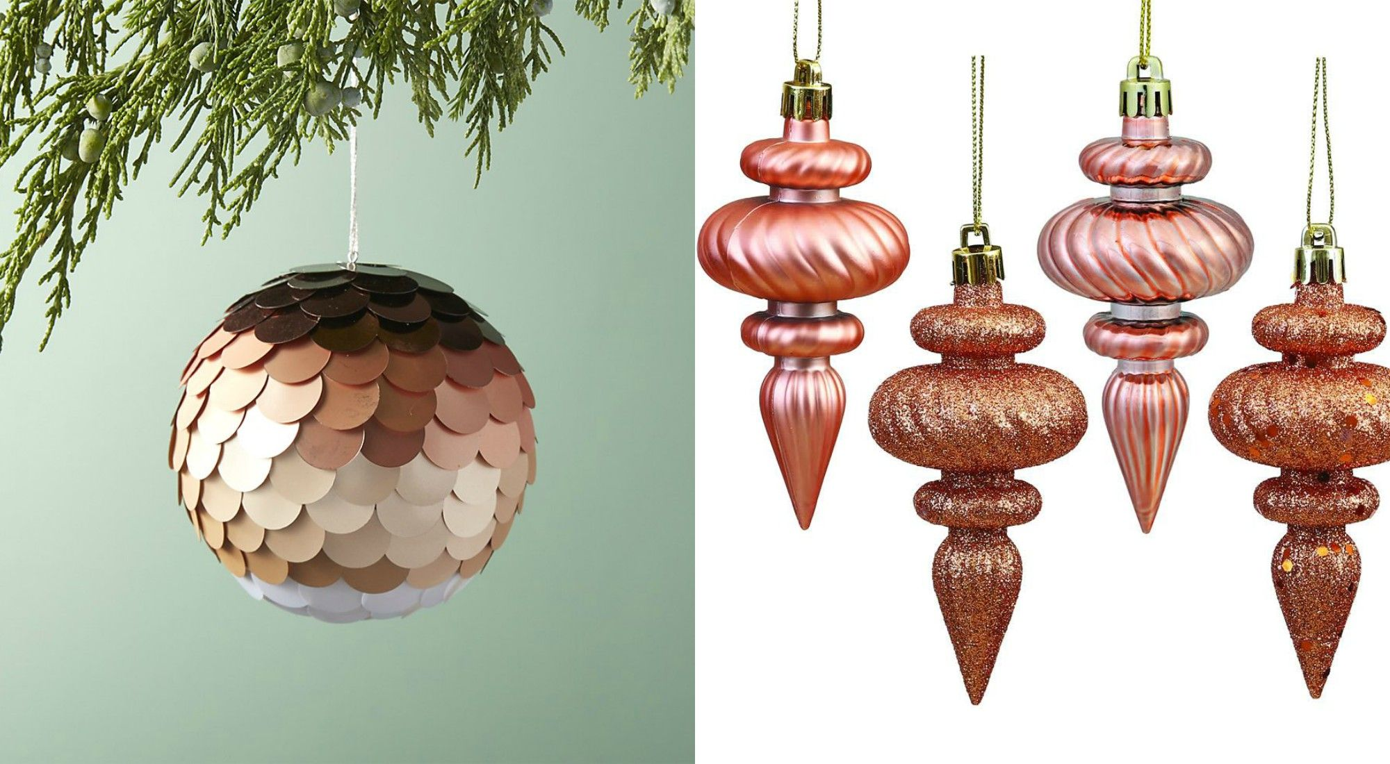rose gold christmas decoration ideas holiday home decor - Gold Christmas Decorations