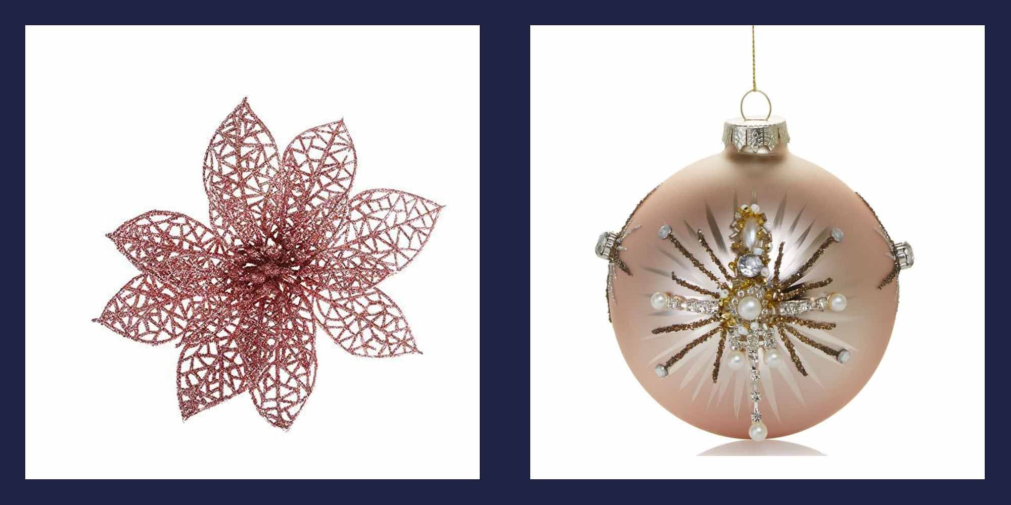20 Rose Gold Christmas Ornaments Best Rose Gold Decor For Christmas Trees