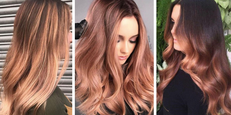 Rose Gold Hair - Colours, Balayage, Ideas, Inspiration