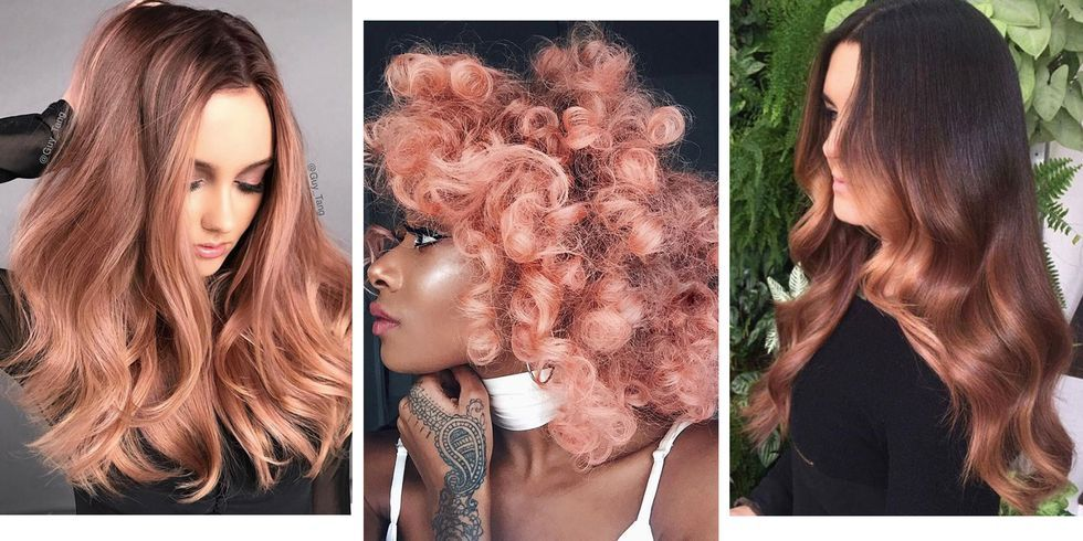 24 Rose Gold Hair Colour Ideas From Across The Internet
