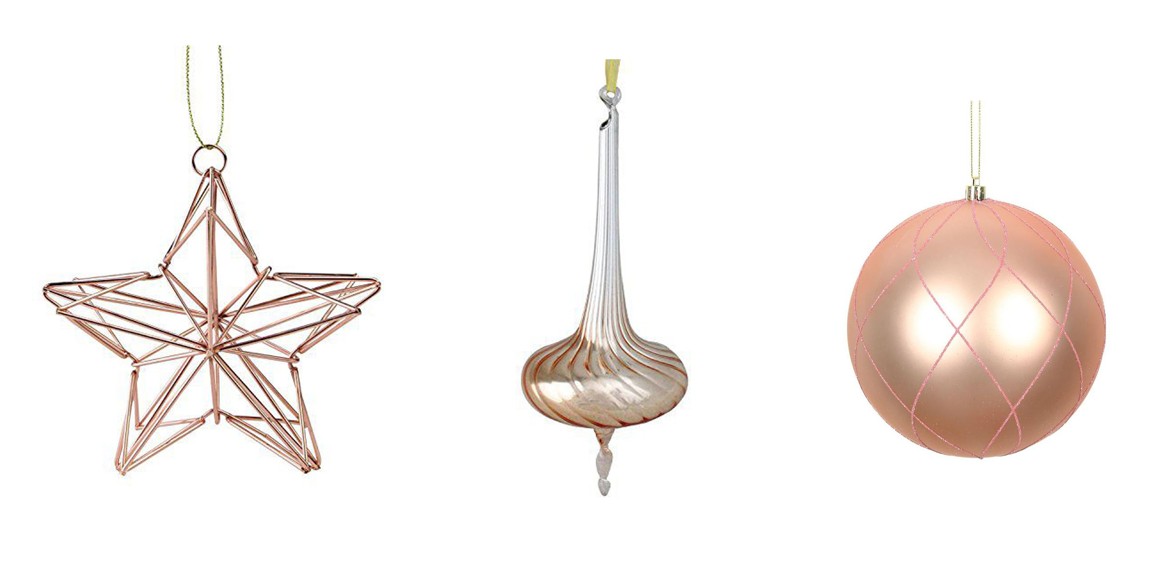 13 Rose Gold Christmas Ornaments Best Rose Gold Decor