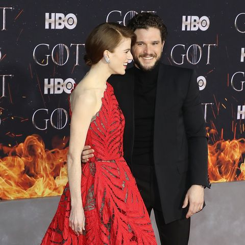 All Of Kit Harington And Rose Leslie S Pda At The Game Of Thrones