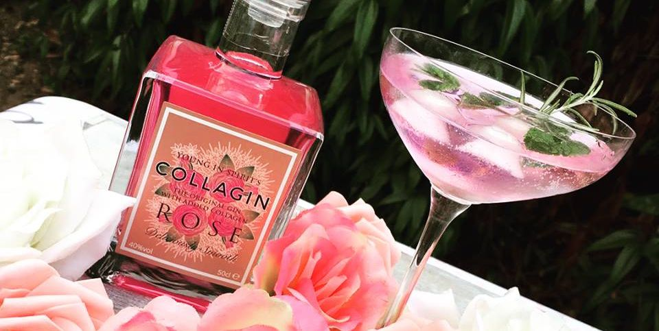 Pink rose collagin
