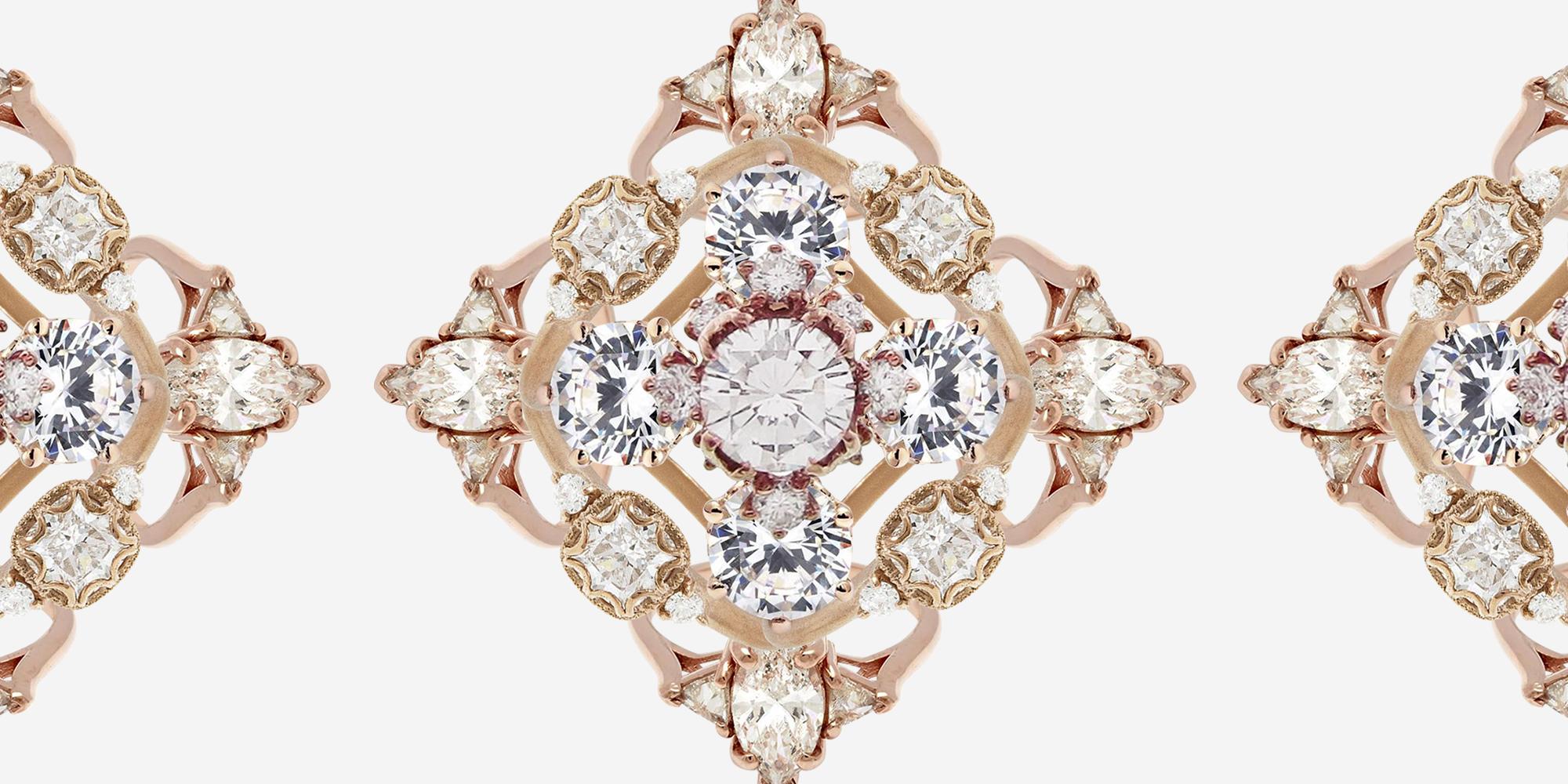 45 Best Rose Gold Engagement Rings Stunning Rose Gold Engagement Rings And Wedding Bands