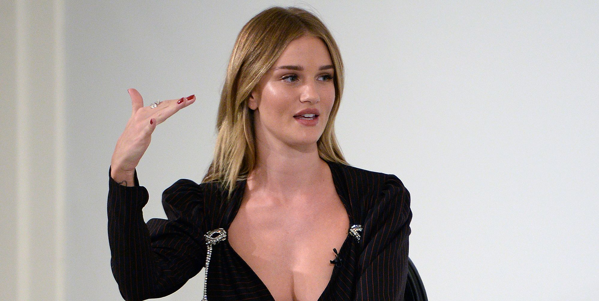 Rosie Huntington-Whiteley at the Bazaar Summit