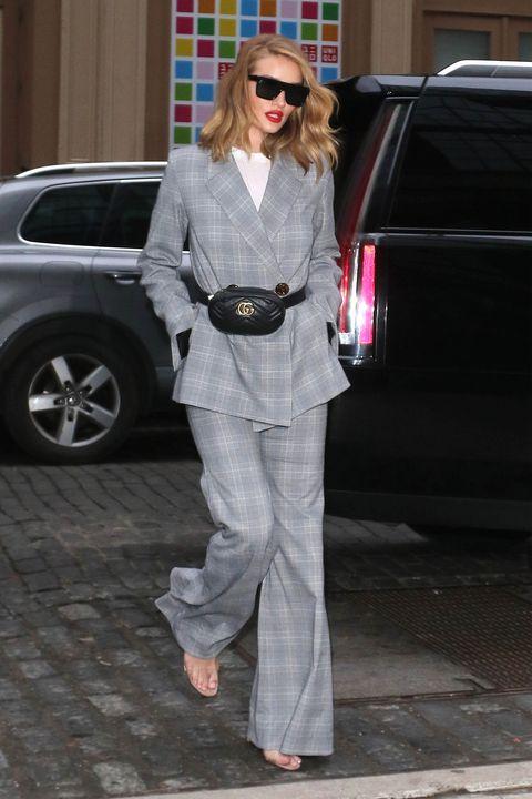 Street fashion, Clothing, Suit, Sunglasses, Fashion, Eyewear, Pantsuit, Footwear, Leg, Outerwear,