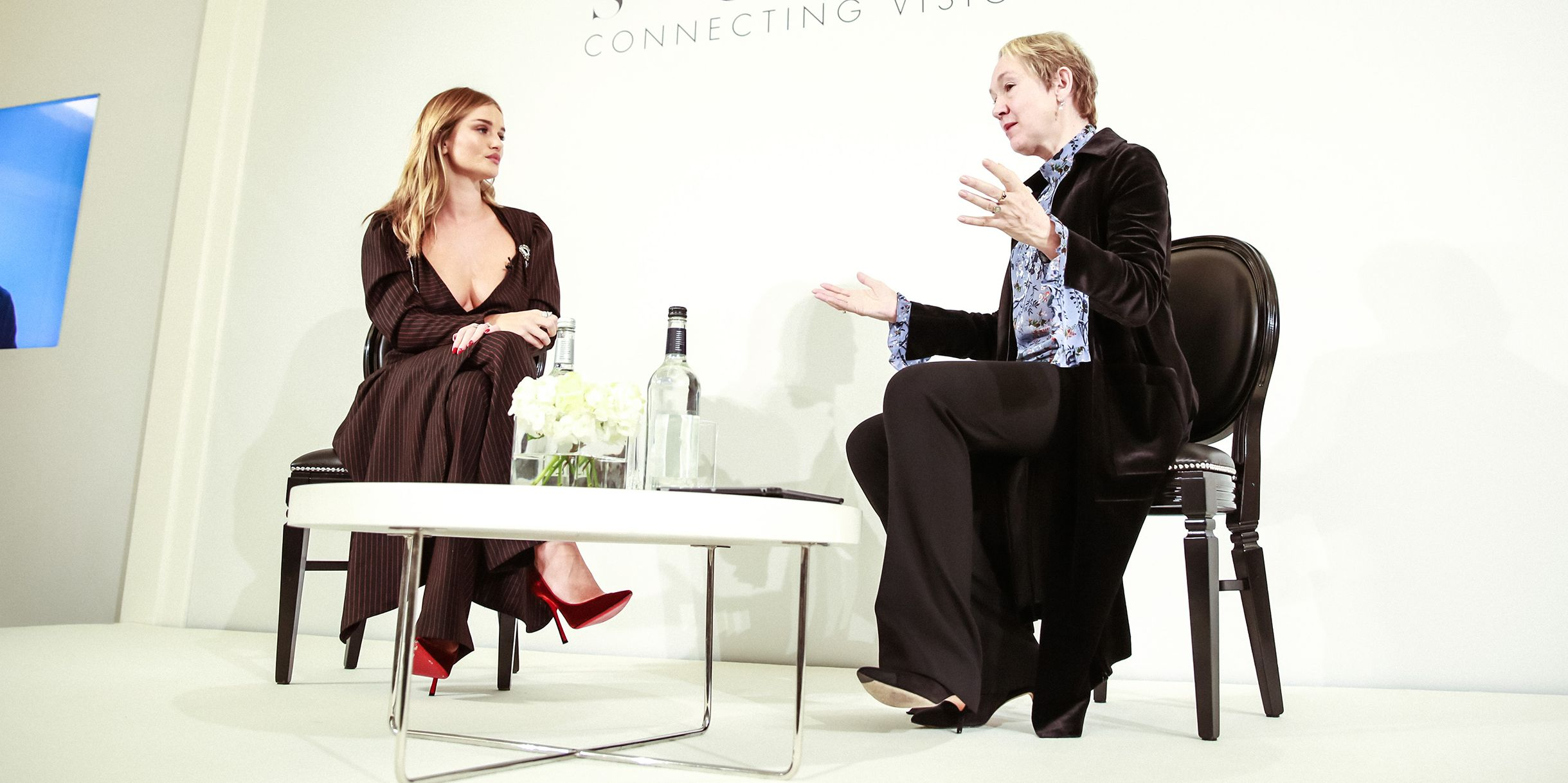 Rosie Huntington-Whiteley at the Bazaar at Work Summit