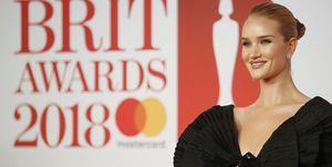 Rosie Huntington Whiteley at the Brit Awards