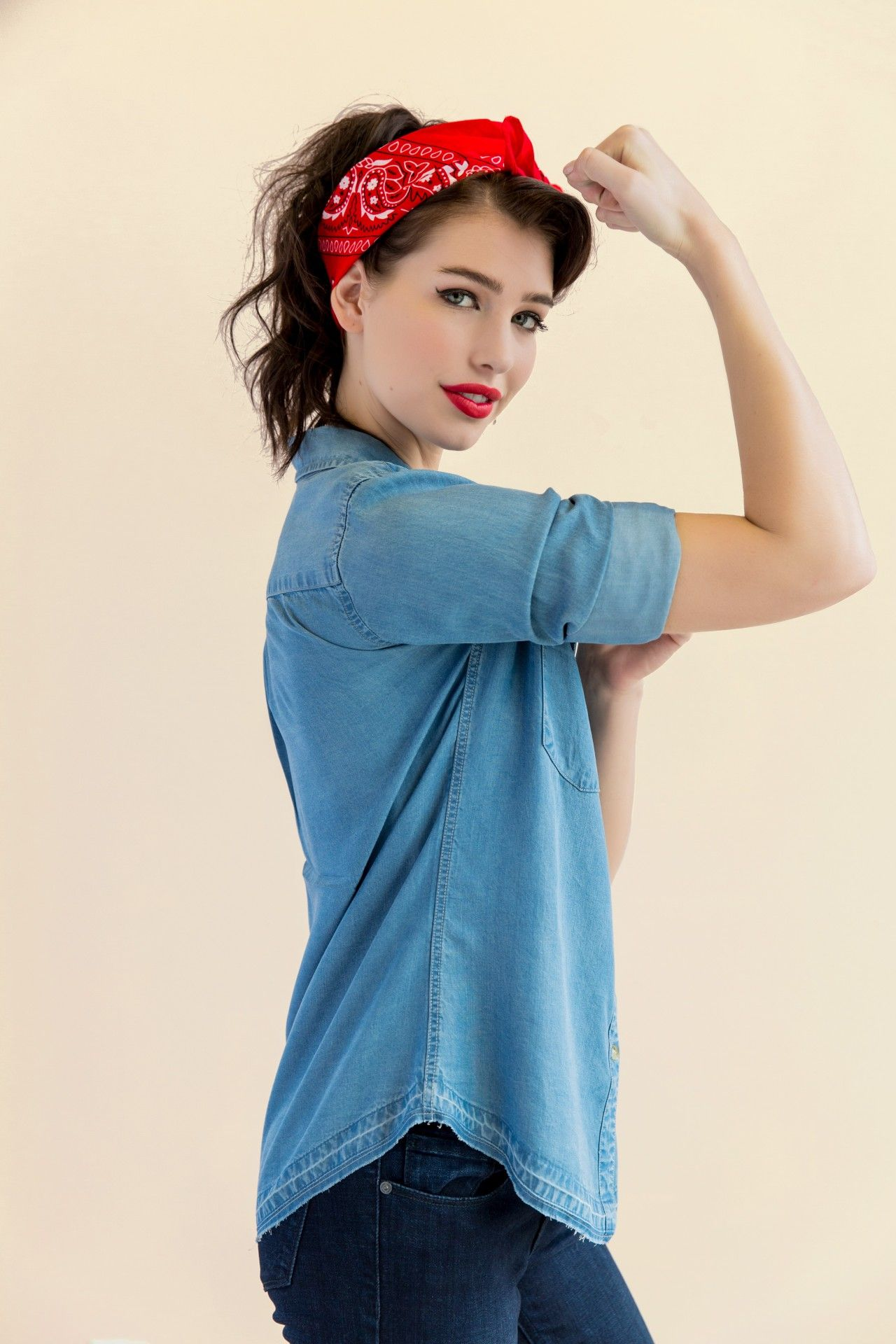 diy rosie the riveter costume for teen