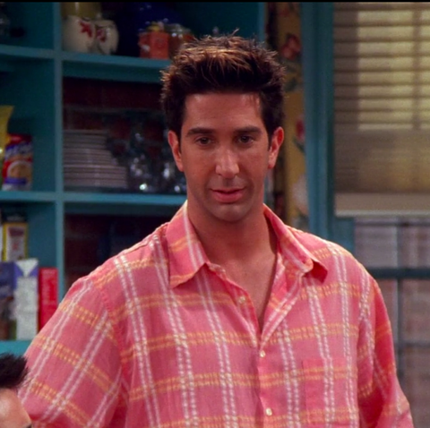 David Schwimmer as Ross in Friends season 8 'The One with the Red Sweater'