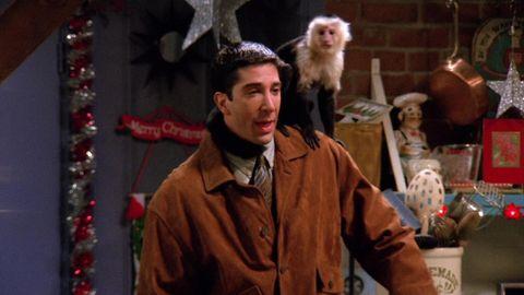 Ross y el mono Marcel en Friends