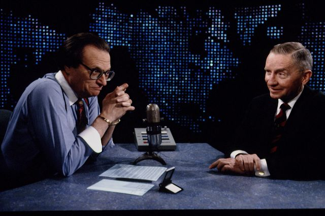 ross perot, larry king's guest on cnn