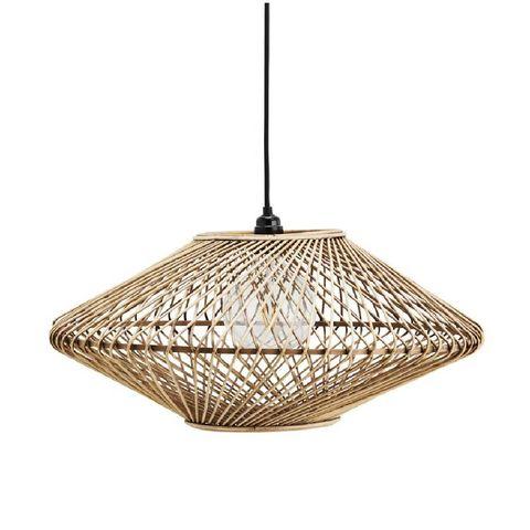 rotan hanglamp madam stoltz hanglamp bamboe naturel 28,5 x ø57