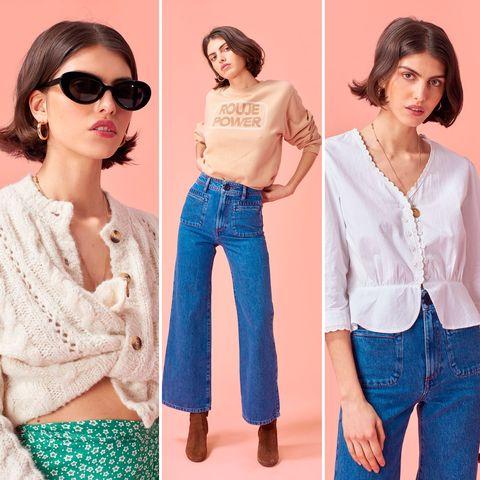 Clothing, Jeans, Denim, Sleeve, Shoulder, Blouse, Fashion, Outerwear, Waist, Neck,