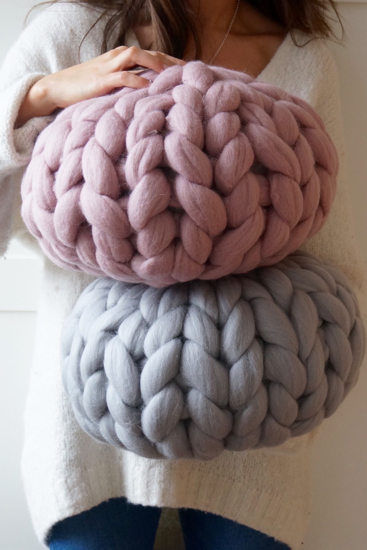 Round Chunky Knit Cushion, Notonthehighstreet.com