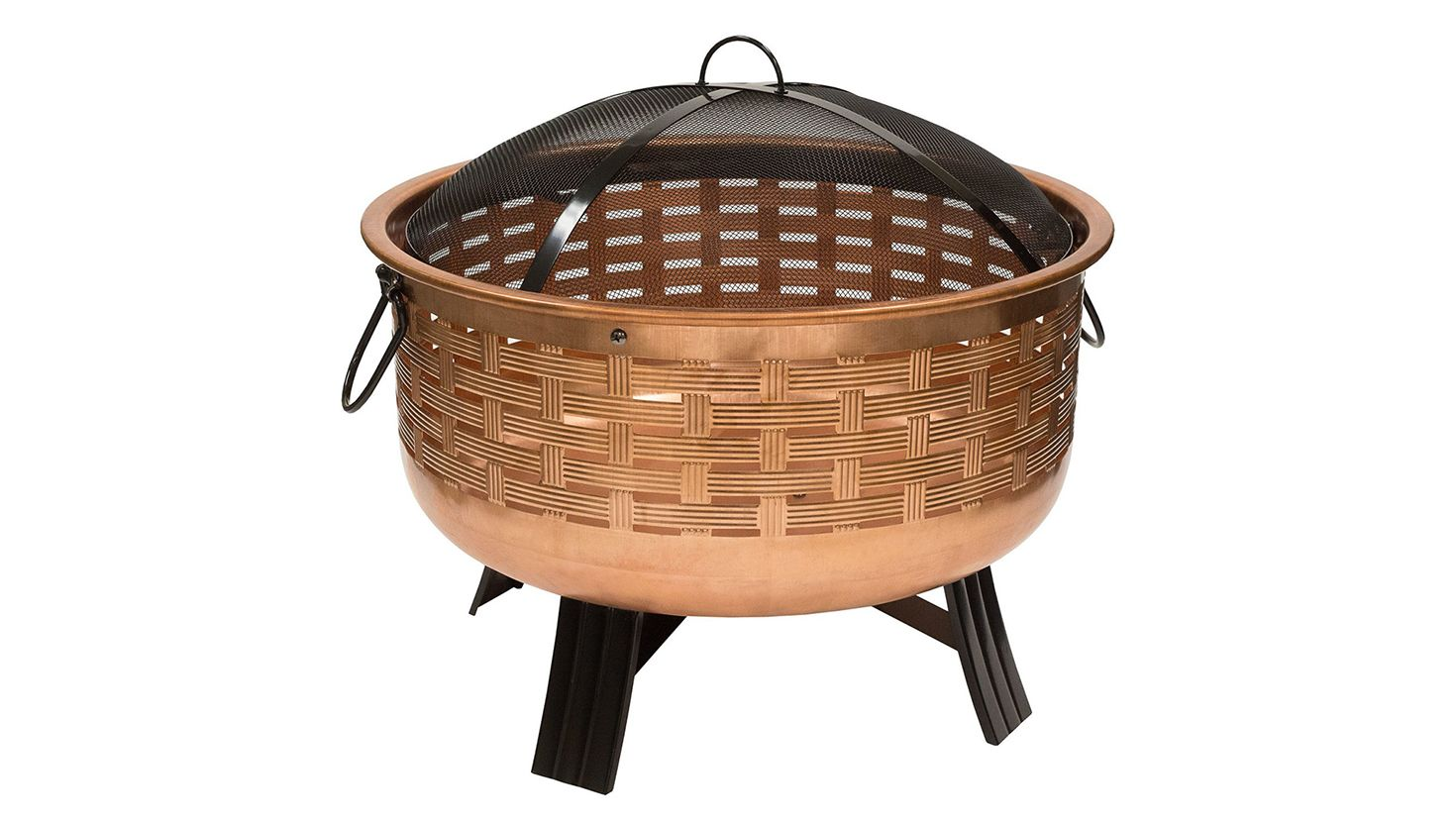 round copper fire pit