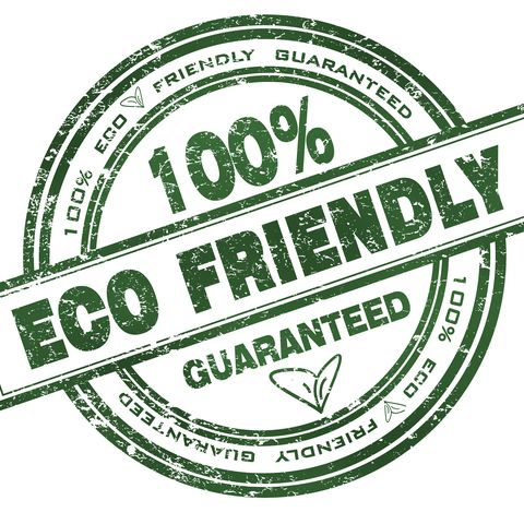 round stamp with text eco friendly