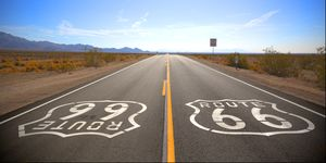 Route 66, Amboy, California, USA