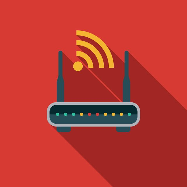 router flat design appliance icon