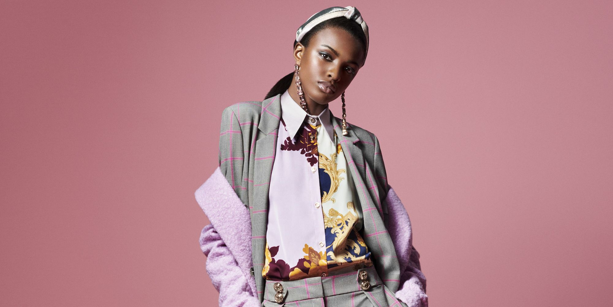 Leomie Anderson in River Island for ELLE