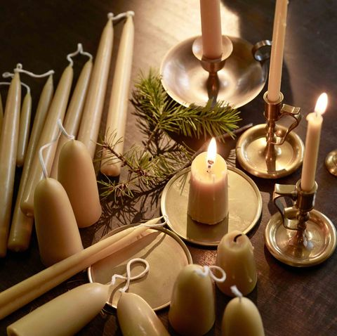 rowan and wren christmas candles for festive table setting