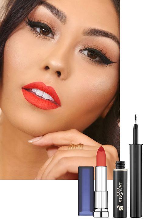 Lip, Finger, Brown, Skin, Forehead, Eyelash, Eyebrow, Beauty, Eye shadow, Style,