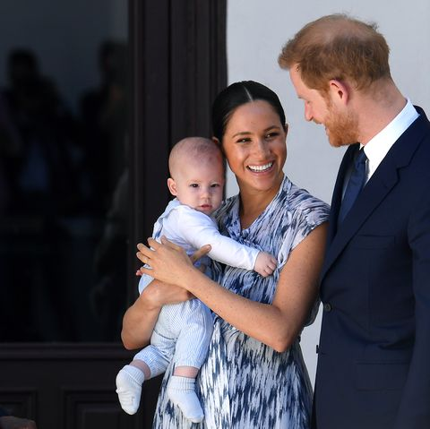 meghan reads to archie to support save the children on his first birthday