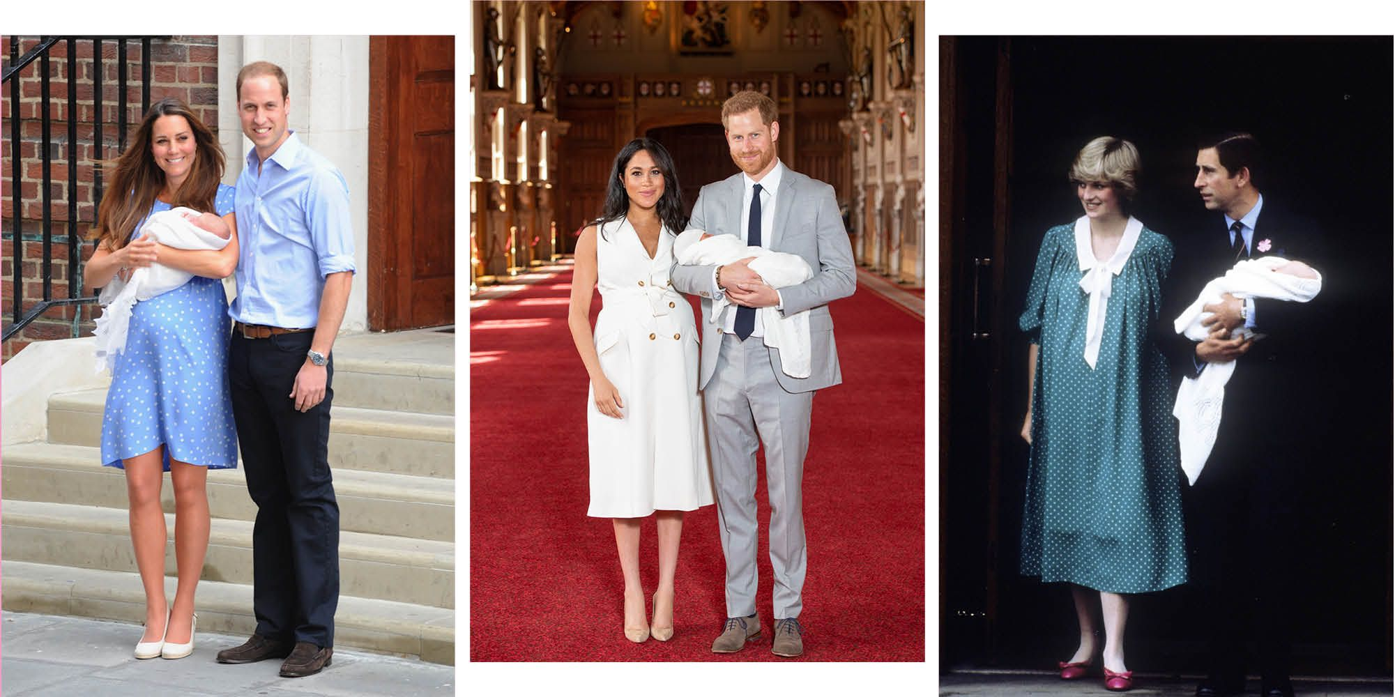 ウィリアム王子&キャサリン妃、ヘンリー王子&メーガン妃、チャールズ皇太子&ダイアナ妃